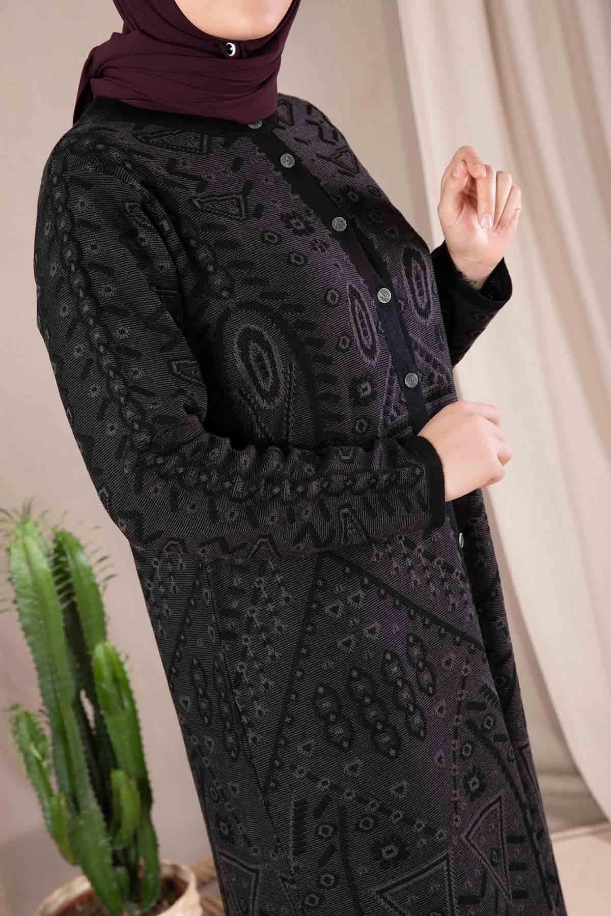Esna Triko Ceket Siyah 9919