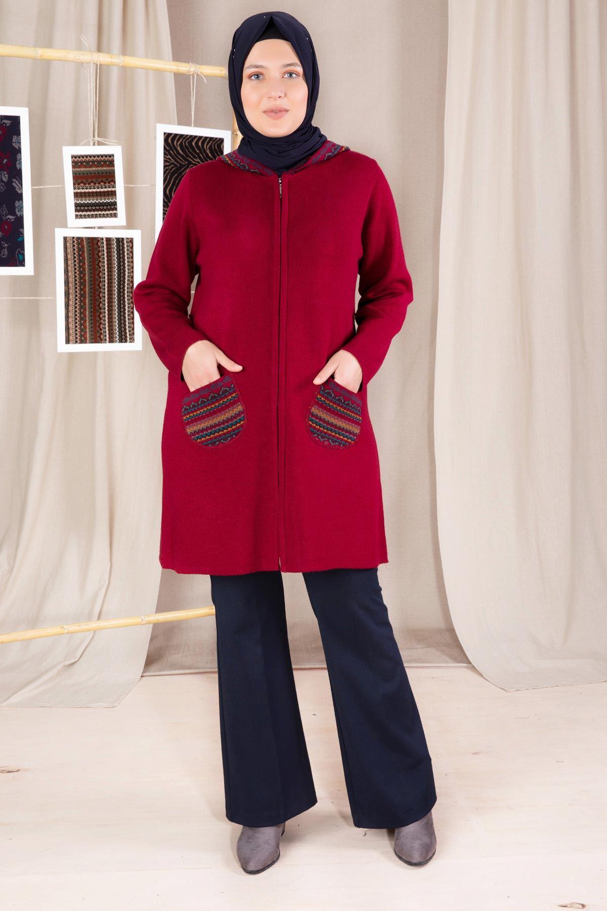 Hazen Triko Ceket Kırmızı 9924