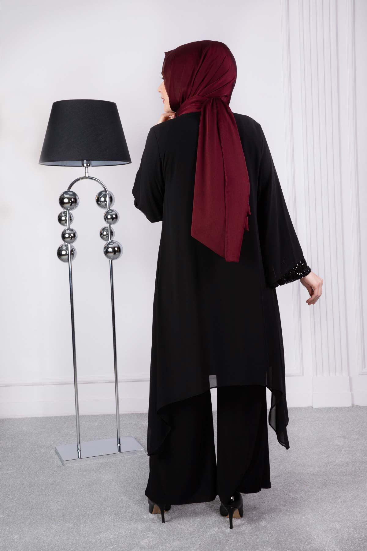 Maysa Pantolonlu Takım Siyah 60002