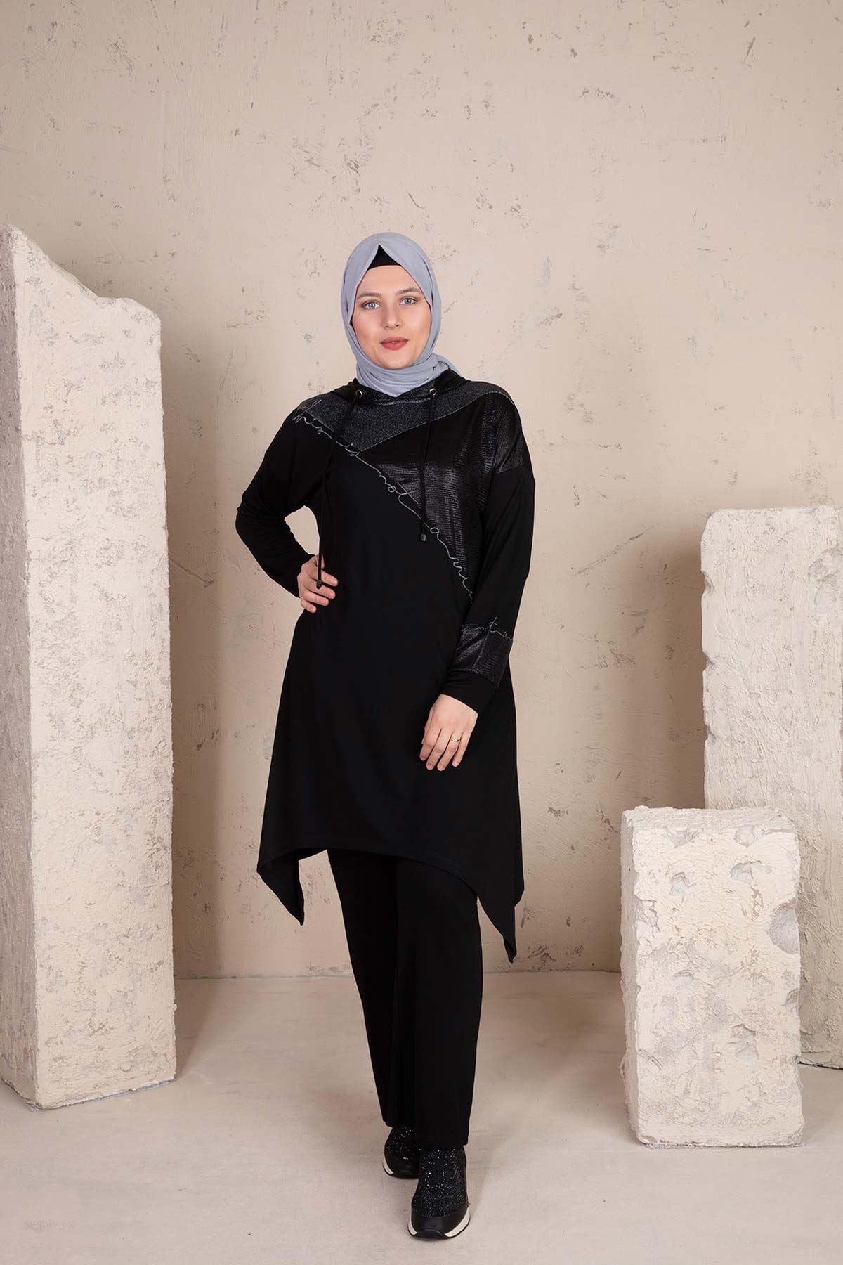 Ahfa Pantolonlu Takım Siyah 35001