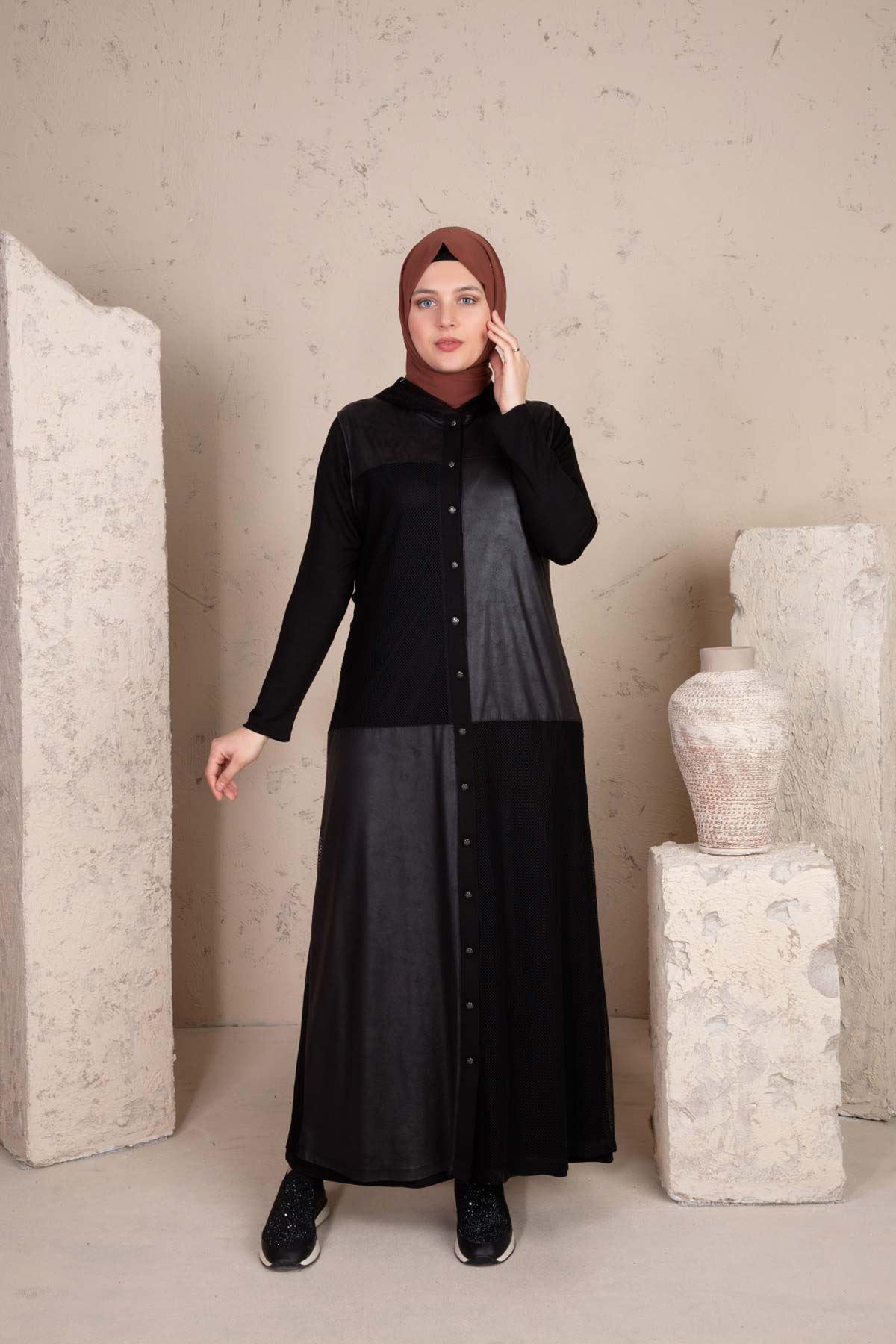 Anisa Fileli Takım Siyah 40001