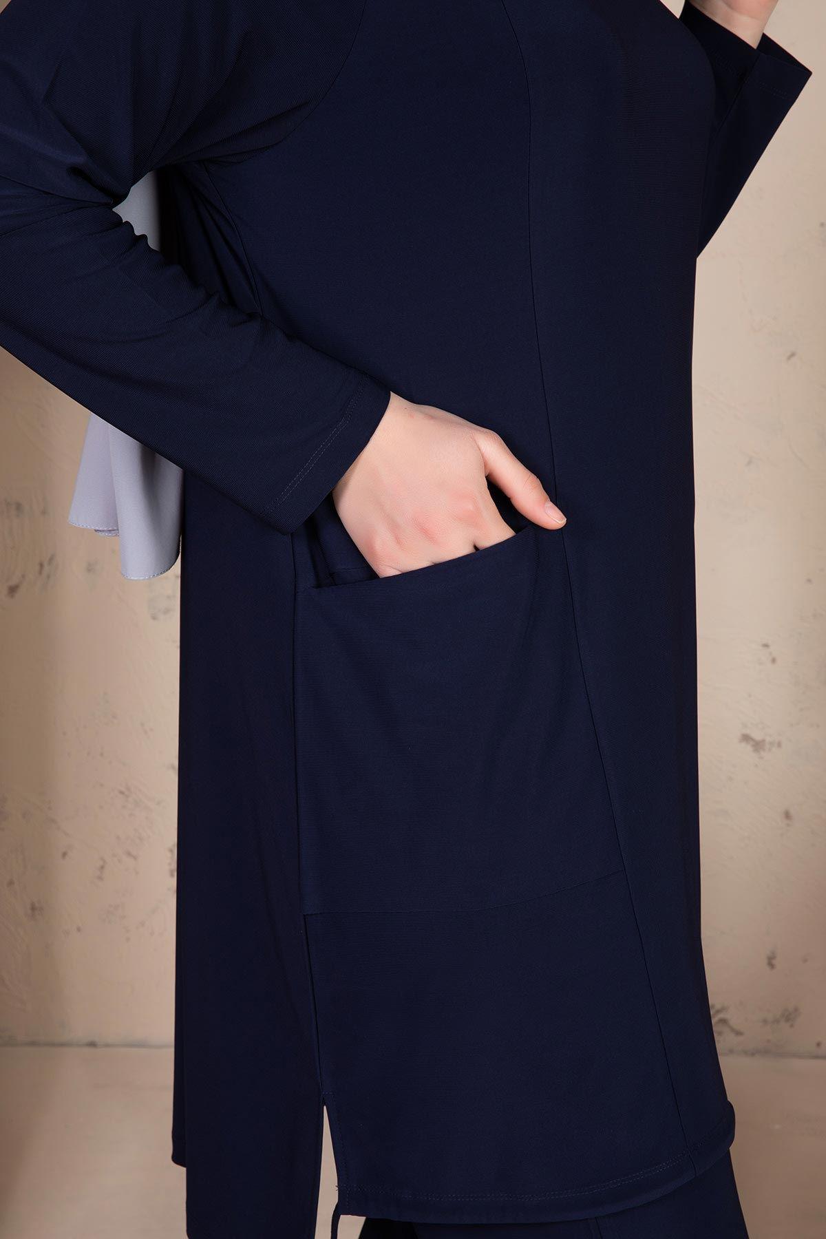 Hamra Pantolonlu Takım Lacivert 35005