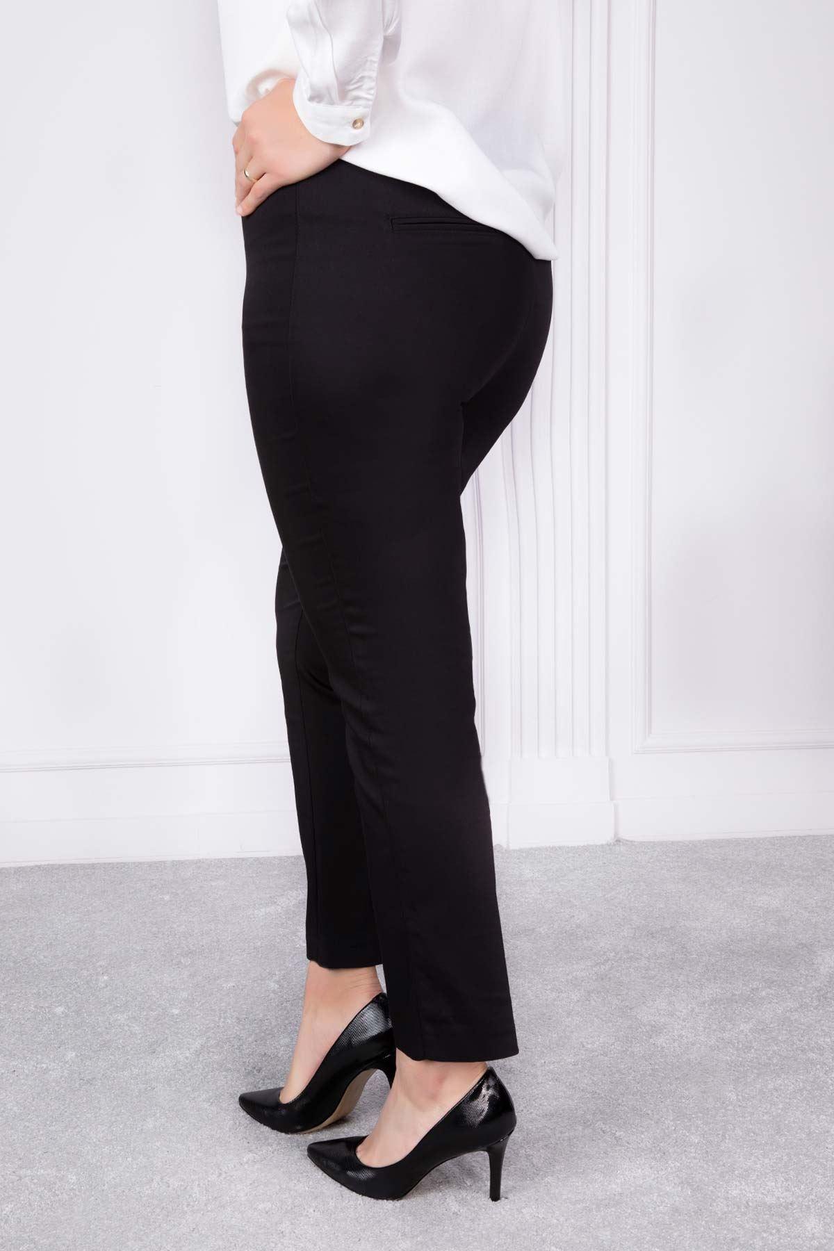 Zımbalı Lastikli Pantolon Siyah 2193-61