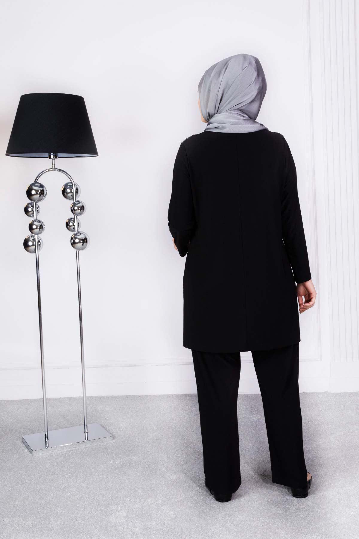 Erva Pantolonlu Takım Siyah 3501
