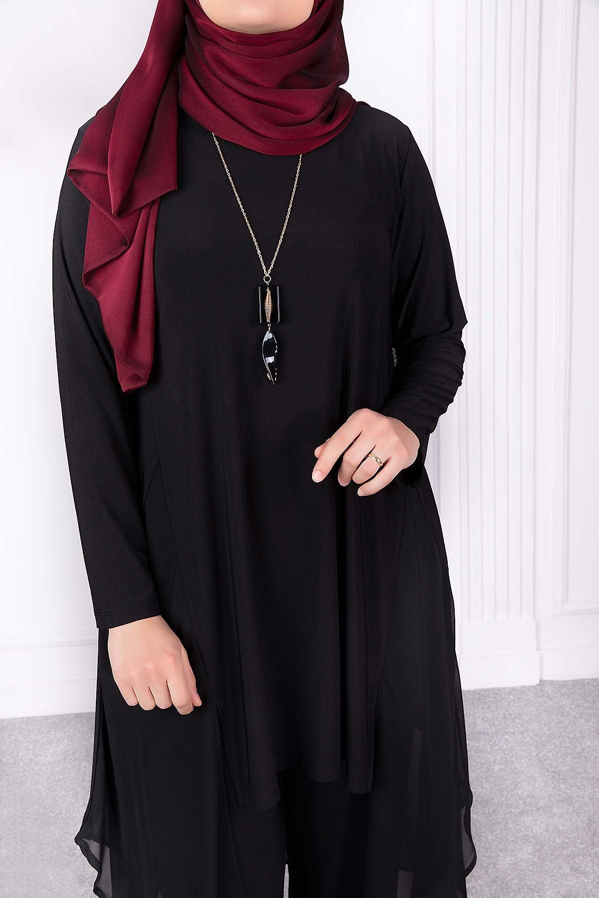 Alin Pantolonlu Takım Siyah 35009