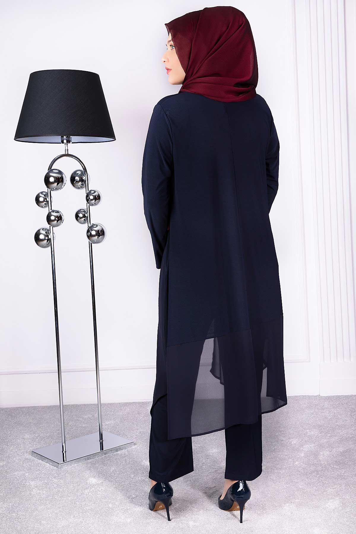 Alin Pantolonlu Takım Lacivert 35009
