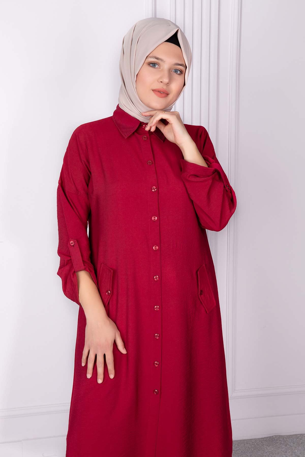 Beliz Tunik Bordo 23004