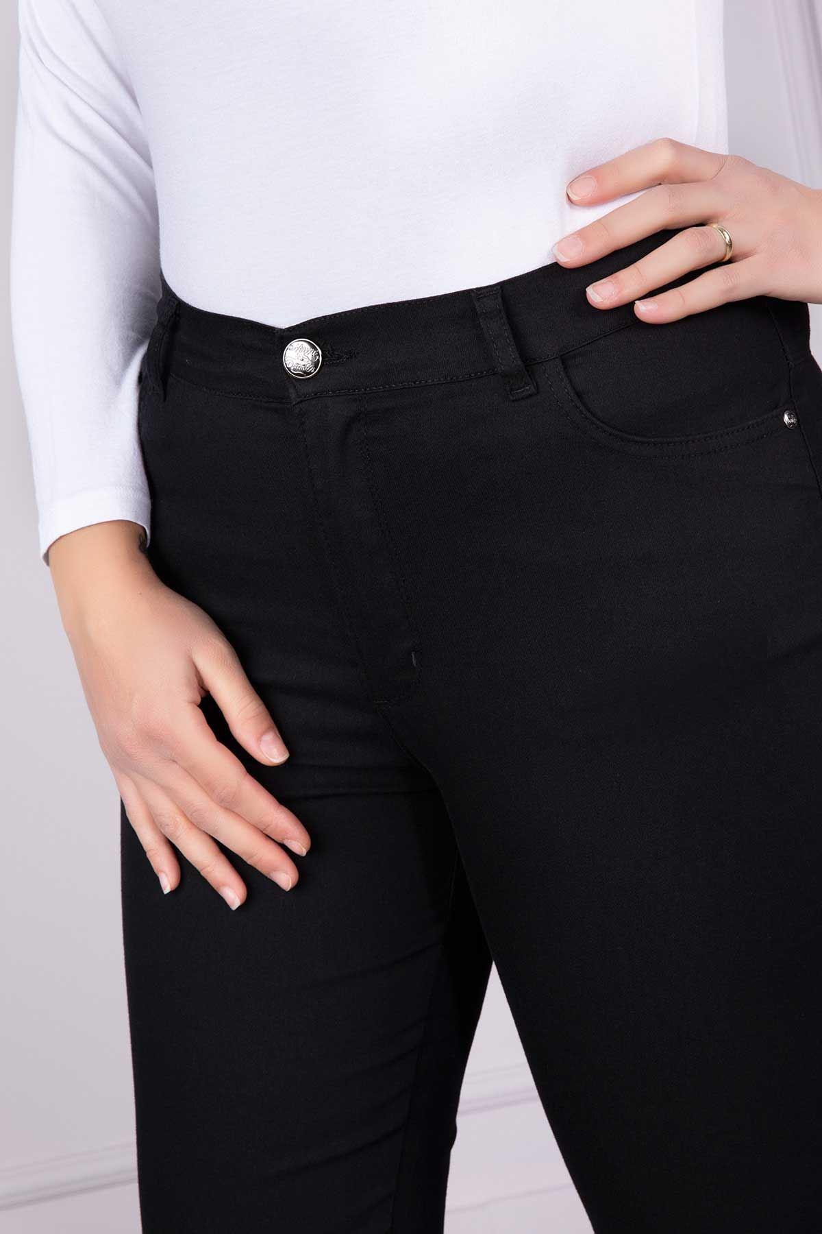 Bel Lastik Detaylı Pantolon Siyah 4115-07