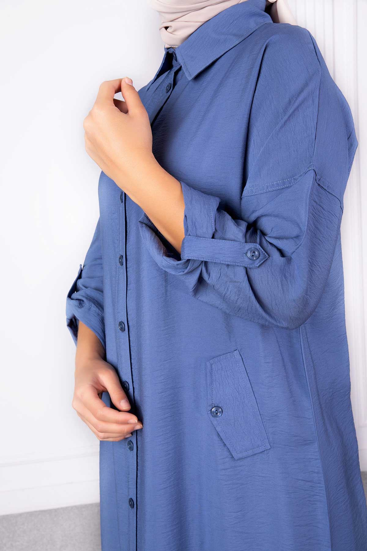 Beliz Tunik Mavi 23004
