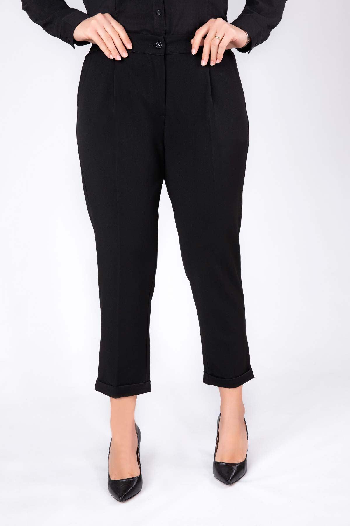 Büyük Beden Pantolon Siyah 2200-03