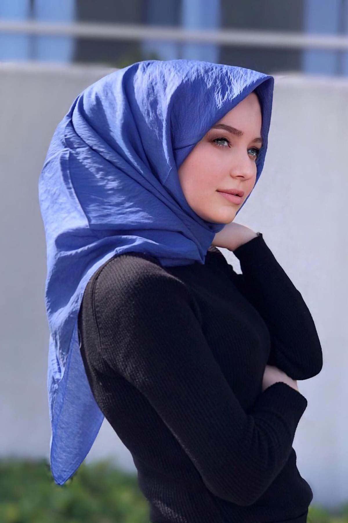 Vual Mavi Eşarp