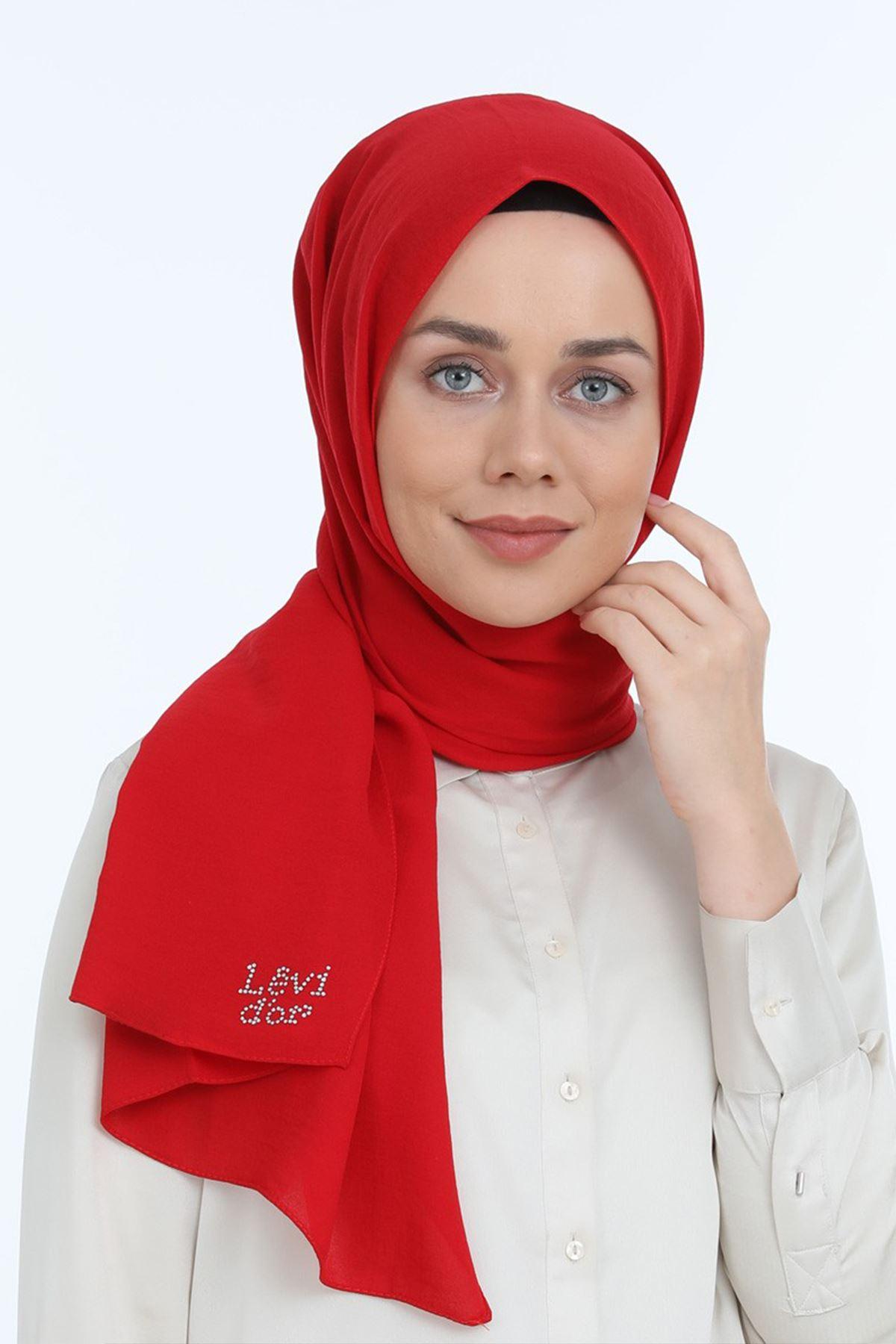 Cazz Şal Levidor Kırmızı