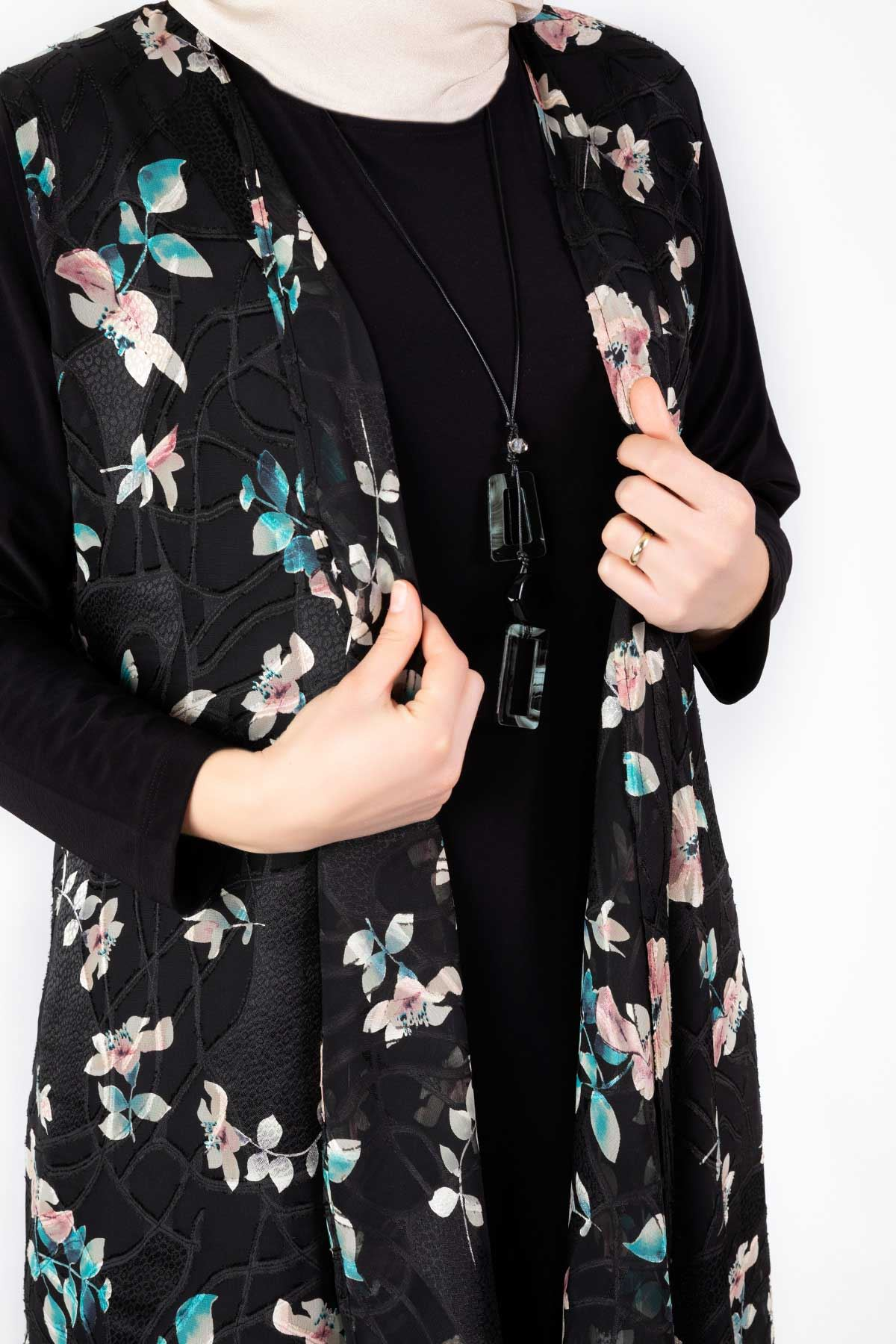 Büyük Beden İkili Ceketli Takım Siyah 45005