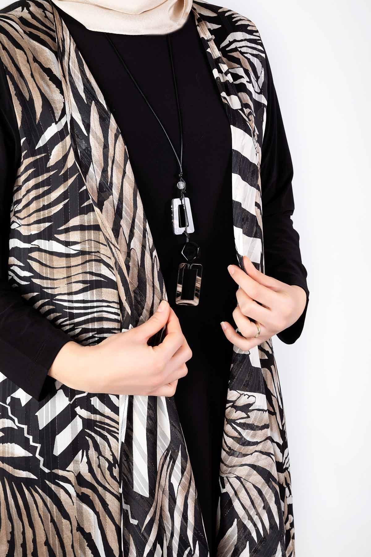Büyük Beden İkili Ceketli Takım Vizon 45005