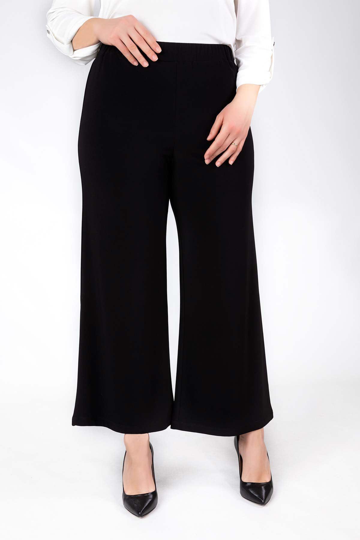 Bol Paça Sandy Pantolon Siyah 10004