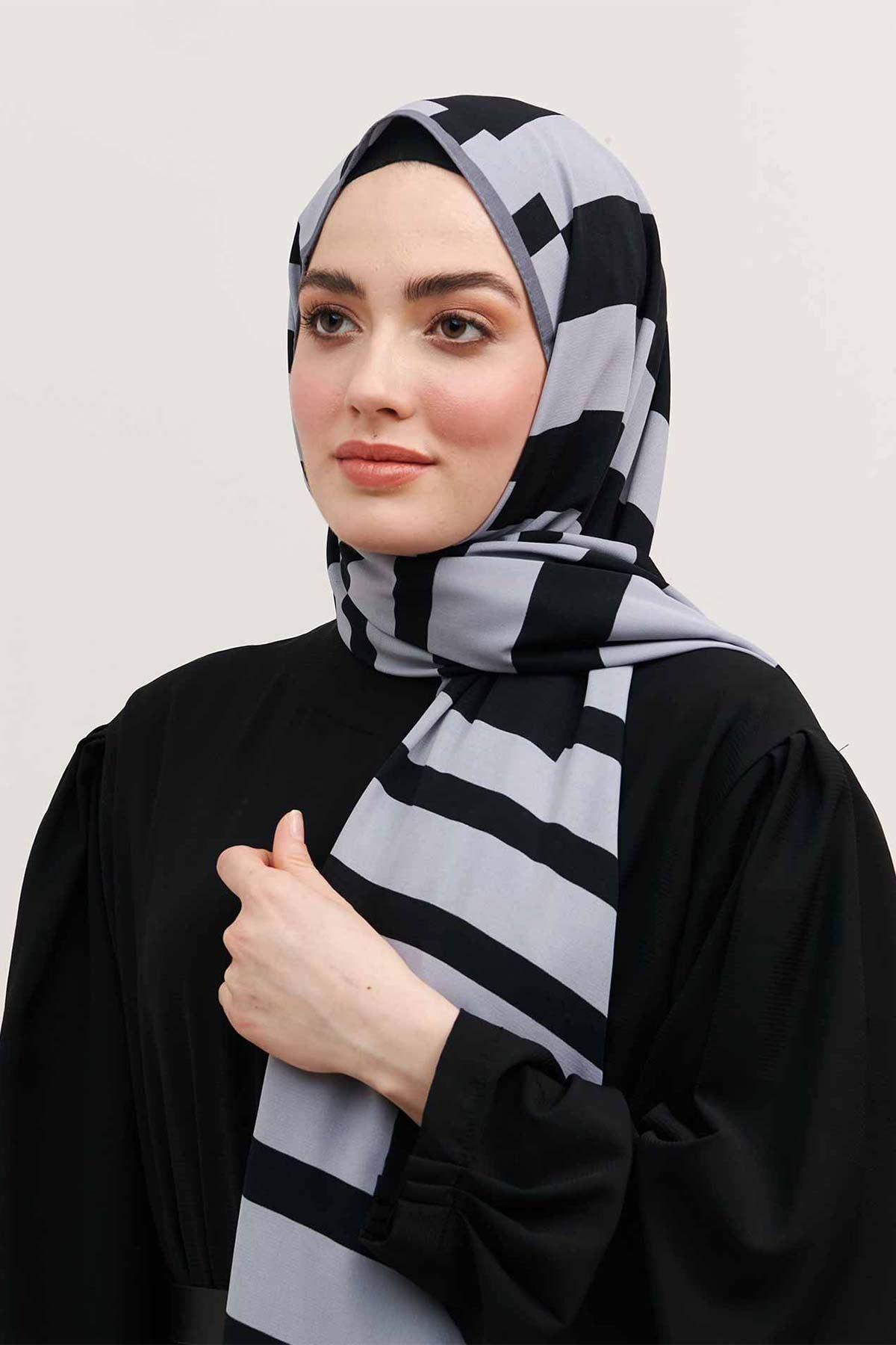Moda Kaşmir Şal Monokrom