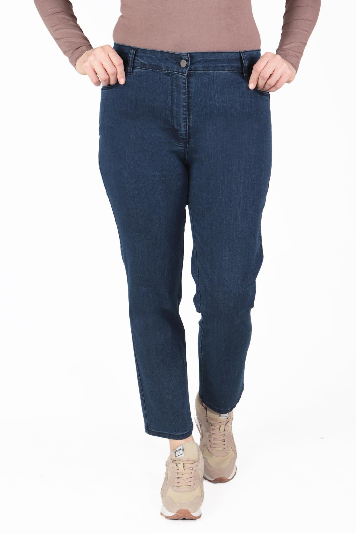 Büyük Beden Pantolon Mavi B643